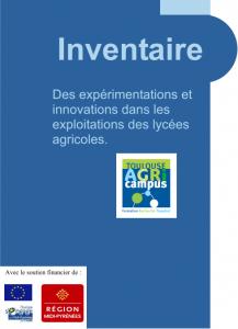 Inventaire des expérimentations et innovations dans les exploitations des lycées agricoles