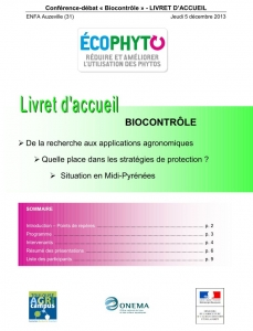 Journée « Biocontrôle » - 05/12/2013